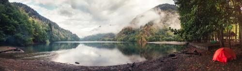 Ritsa lake tent camping